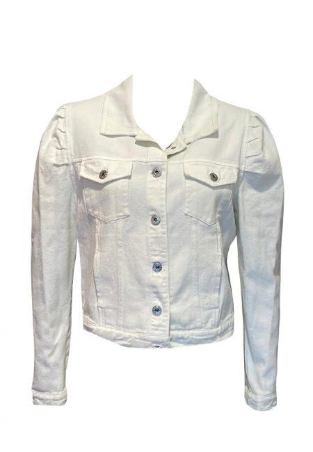 Off white jeans jasje met pof mouwtjes
