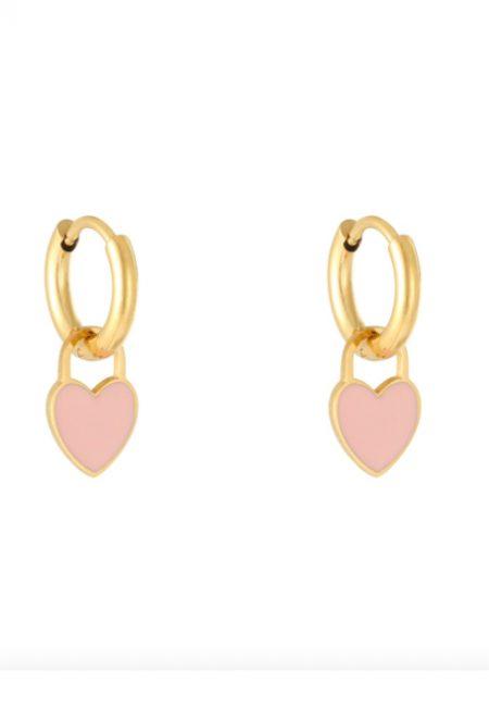 Kleine goudkleurige oorbellen met hartje