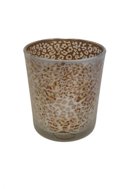 Glazen leopard sfeerlicht