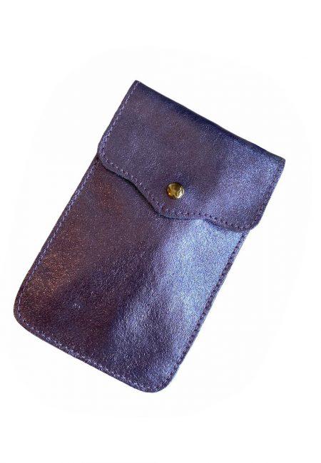 Paars metallic phone bag