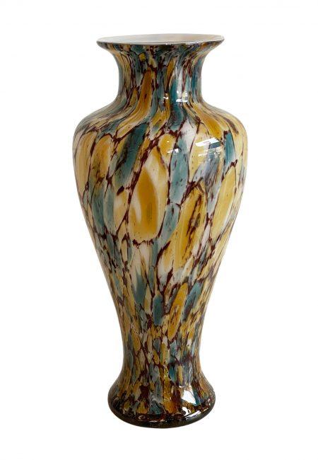 Glazen vaas met luxe print