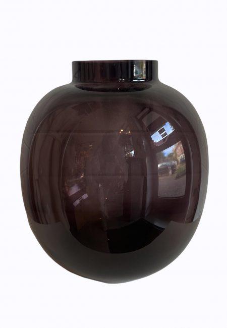 Luxe paarse glazen vaas